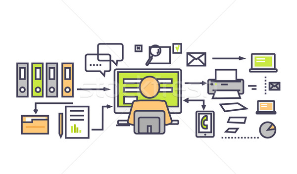 Icon Flat Design Deadline Concept Stock photo © robuart