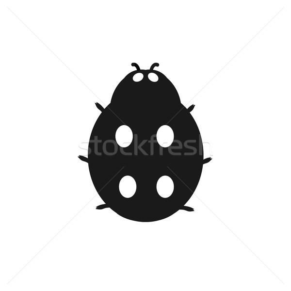 Rovar katicabogár izolált fehér katicabogár kicsi Stock fotó © robuart