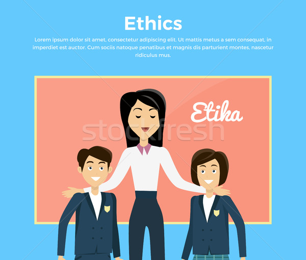 Children Education Ethics Banner Stock photo © robuart