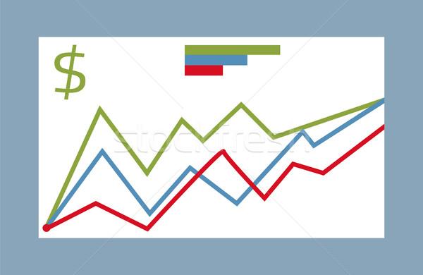 統計値 グラフィック ベクトル コレクション シンボル ストックフォト © robuart