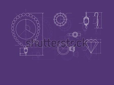 Jóias produção esboço anel Foto stock © robuart
