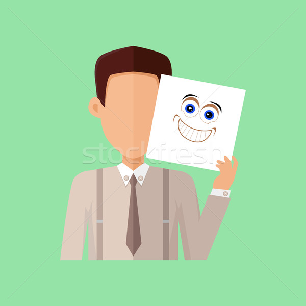 Man Character Avatar Vector in Flat Design Stock photo © robuart
