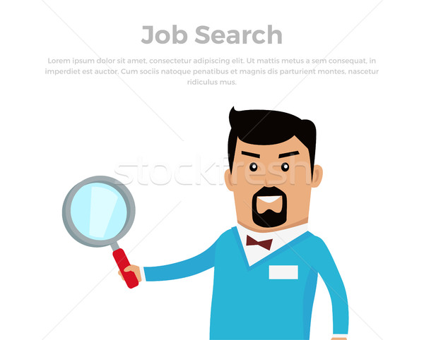 Job Searching Concept Flat Vector Illustration Stock photo © robuart