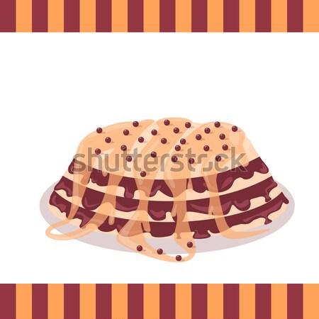 Bon Appetit. Festive Cake Web Banner. Chocolate Stock photo © robuart
