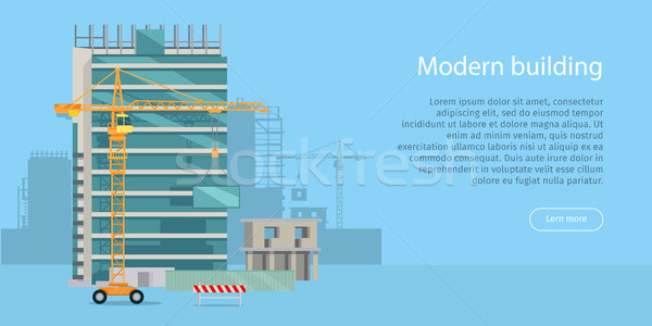Building Web Banner. Skyscraper. Floors with Glass Stock photo © robuart