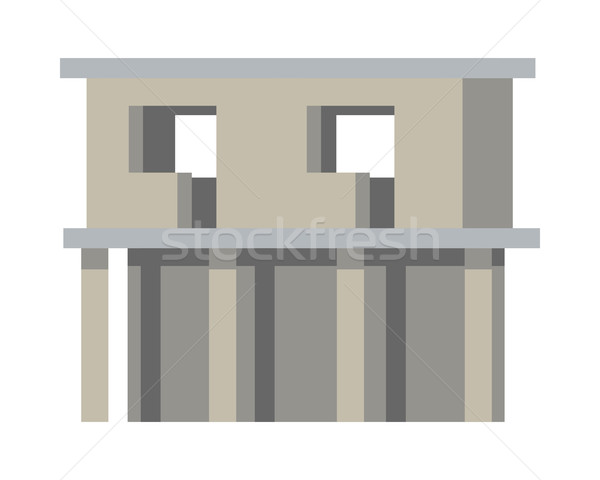 Unfinished Building. Without Doors and Windows Stock photo © robuart