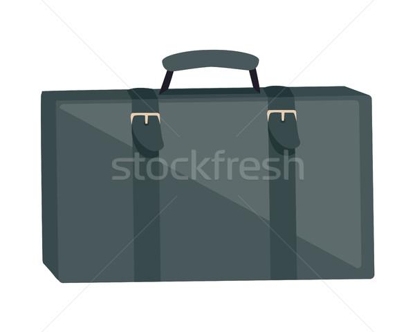 Gray Suitcase Isolated on White. Summer Vacation Stock photo © robuart
