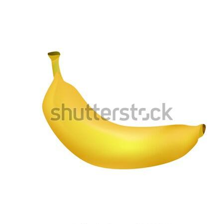 Ripe Banana Realistic Vector Illustration Stock photo © robuart