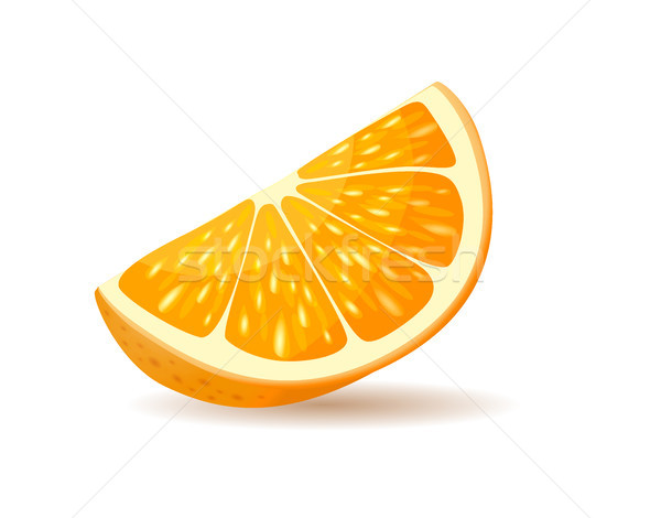 Orange slice schil stuk sappig citrus realistisch Stockfoto © robuart