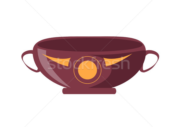 Ancient Greek Drinking Cup Isolated Illustration Stock photo © robuart