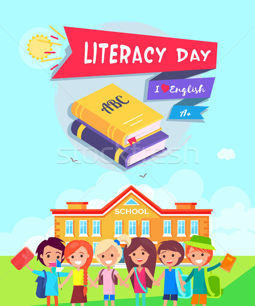 Literacy Day Poster Vector Illustration Stock photo © robuart