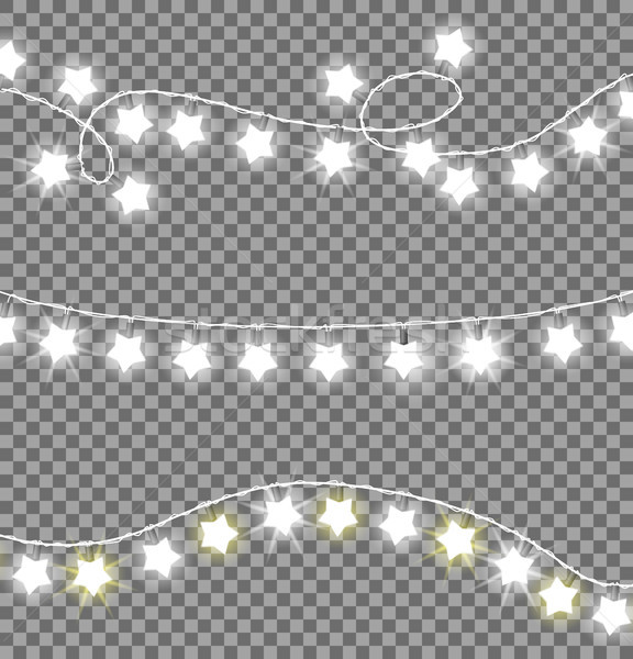 Colorless Festive Garlands Set Decorations Stars Stock photo © robuart