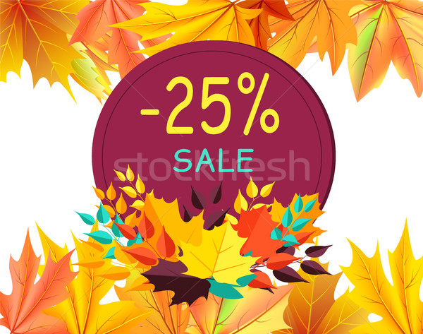 Herbst Ermäßigung Geschenkkarte Design Ahorn Blätter Stock foto © robuart
