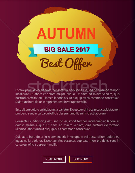 Autumn Best Choice 2017 Offer Round Promo Label Stock photo © robuart