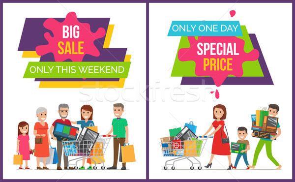 Grand vente week-end une jour Photo stock © robuart