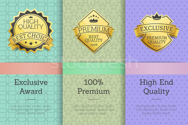 Exclusive Award 100 Premium High Quality Labels Stock photo © robuart