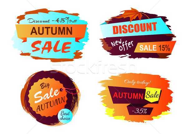 Autumn Sale New Offer Vector Illustration Stock photo © robuart
