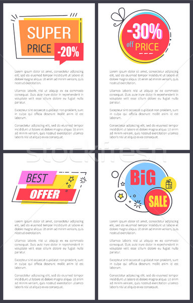 Super Price 20 and Best Offer Vector Illustration Stock photo © robuart