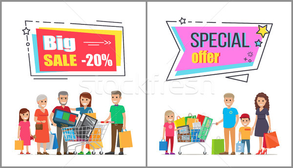 Big Sale on Wholesale Purchases for Big Families Stock photo © robuart