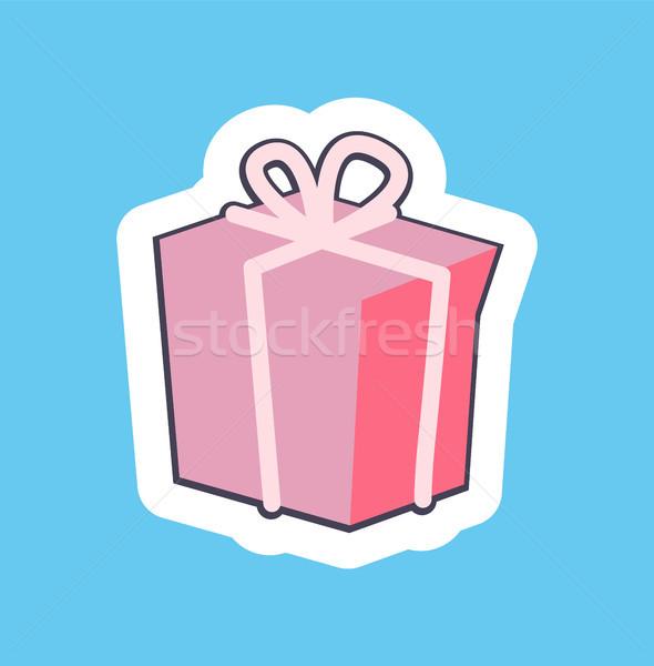 Nice Pink Gift Box Banner Vector Illustration Stock photo © robuart