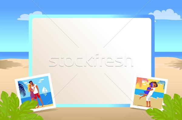 Cuadrados hermosa playa de arena pequeño fotos Foto stock © robuart