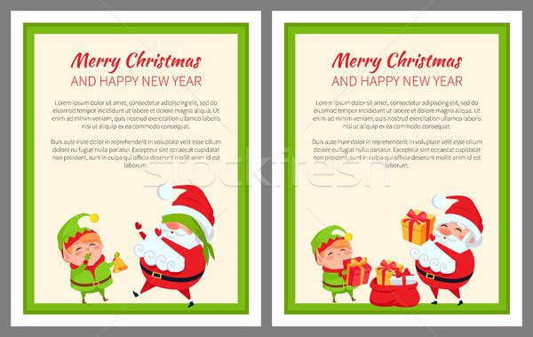 Allegro Natale elf buon anno indossare Foto d'archivio © robuart