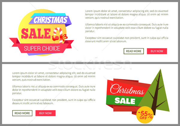 Set of Christmas Sale Cards Vector Illustration Stock photo © robuart