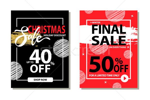 Рождества продажи праздник скидка окончательный цены Сток-фото © robuart