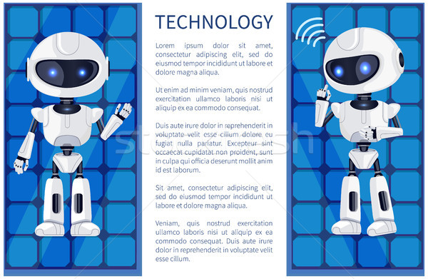 Technology and Robot Poster Vector Illustration Stock photo © robuart