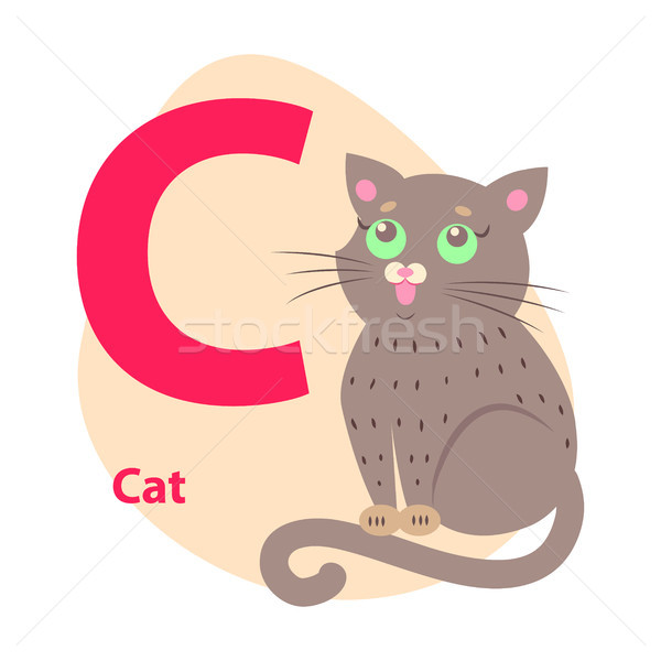 Zoo ABC Letter with Cute Cat Cartoon Vector Stock photo © robuart