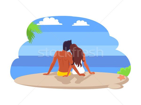 Casal sessão beira-mar verão Foto stock © robuart