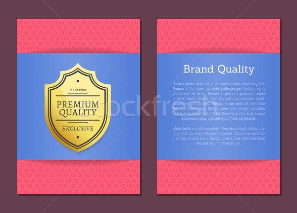 Marka jakości plakat premia wyboru etykiety Zdjęcia stock © robuart