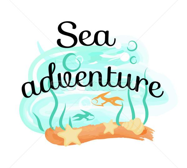 Sea Adventure Icon Isolated Iillustration on White Stock photo © robuart