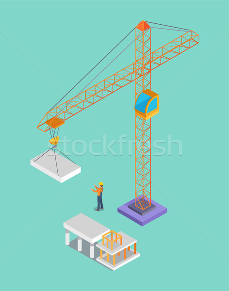 Building Banner, Colorful Vector Illustration Stock photo © robuart