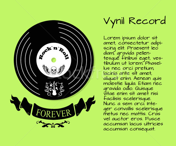 Vinyl Record Rock and Roll Forever Poster Stock photo © robuart