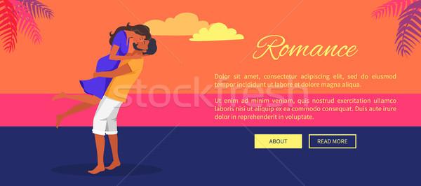 Piękna romans plakat tekst człowiek Zdjęcia stock © robuart