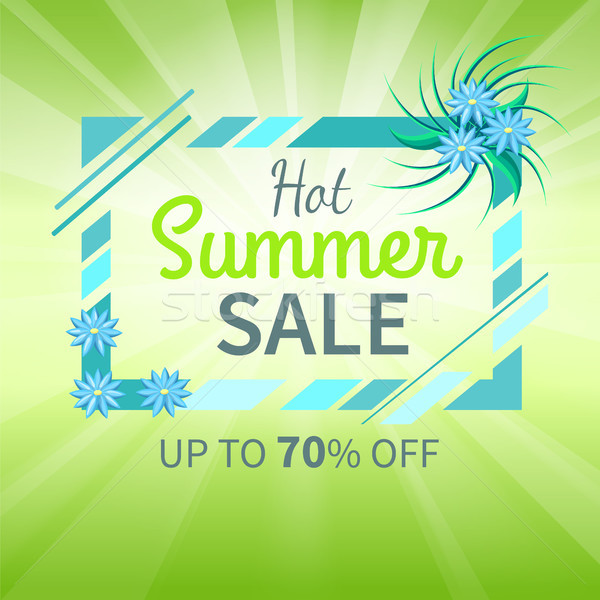 Hot Summer Sale Poster Up to 70 Off Banner Vector Stock photo © robuart