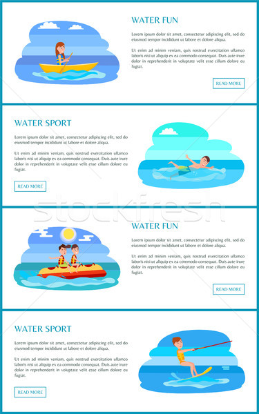 Water Fun and Sport Web Pages Vector Illustration Stock photo © robuart