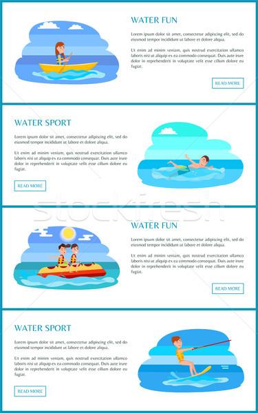 Water leuk sport web tekst Stockfoto © robuart
