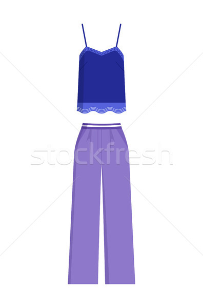 Elegante verão feminino traje topo calças Foto stock © robuart