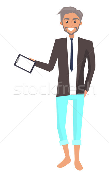 Businessman with Broad Smile Vector Illustration Stock photo © robuart