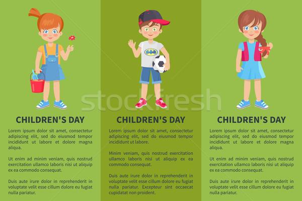 Сток-фото: день · веб · баннер · мальчика · девушки