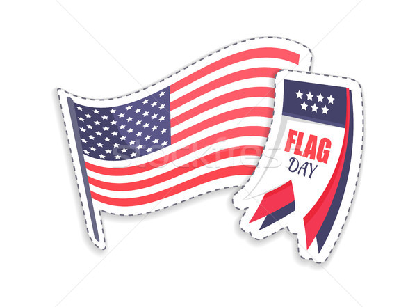 Flag Day Calendar and Pole Vector Illustration Stock photo © robuart