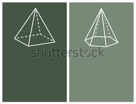 Pyramids and Prisms Collection Vector Illustration Stock photo © robuart