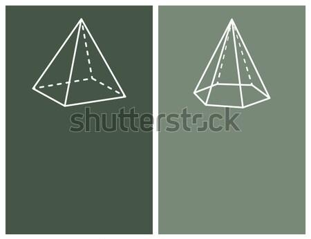 Piramidi raccolta nero piazza forme abstract Foto d'archivio © robuart