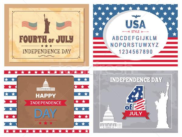 день плакатов статуя свободы плакат американский Сток-фото © robuart