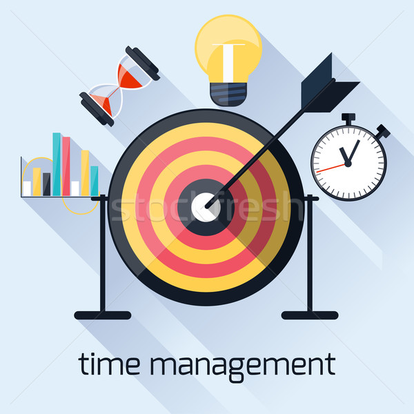 Time management, timing concept in flat design Stock photo © robuart