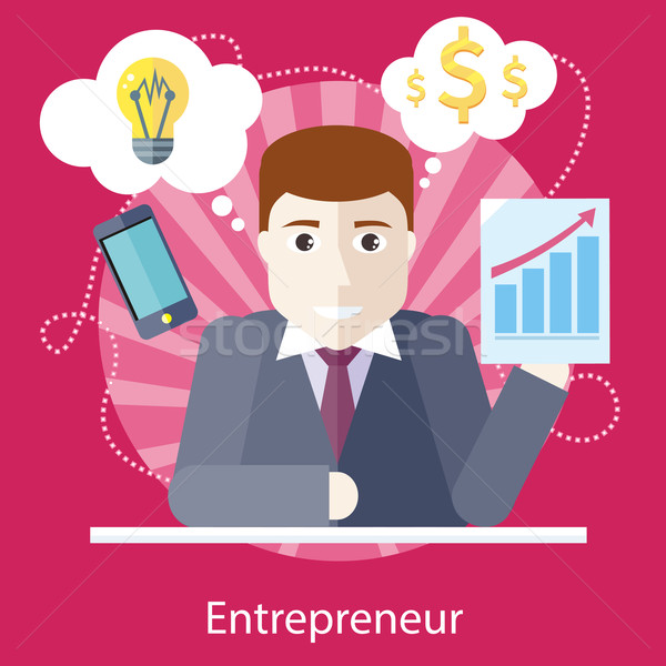 Entrepreneur Working on Freelance Project  Stock photo © robuart