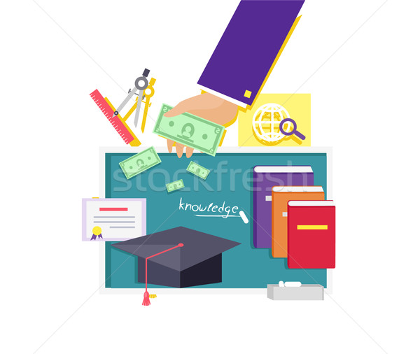 Invest in Education Concept Icon Flat Design Stock photo © robuart