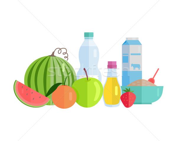 Foto d'archivio: Alimentare · illustrazione · stile · design · gruppo · vettore